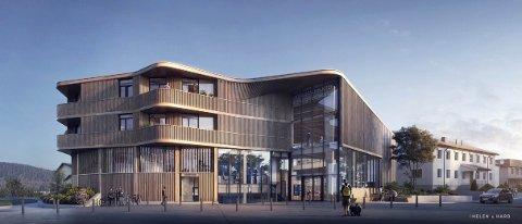 SIGNALBYGGET: «Samling» i Sand sentrum får 10 leiligheter i 2. og 3. etasje.