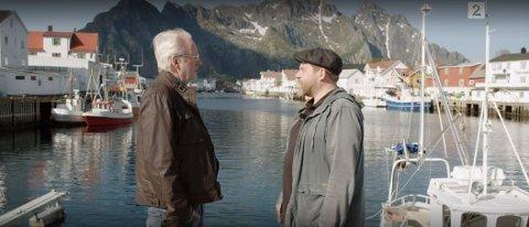 Juksa: Truls Svendsen innrømer TV-juks i Lofoten da han og Eivind Helstrøm var på innspilling i Henningsvær.