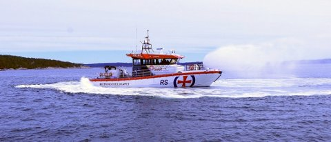 PÅ VANNET: RS 169 ODD FELLOW III ankommer Larvik tirsdag kveld.
