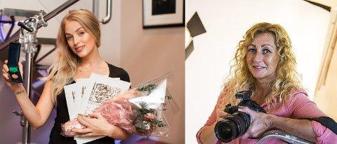 Jeanett og Marion Haslien vant priser  under utdelingen av Østfold Fotograflaugs laugskonkurranse torsdag.. Arkivfoto