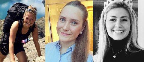 Anne Marie Lillegård (t.v.), Anne Wiggen og Therese Welhaven har alle fått tilbud om studieplass i Bodø til høsten.