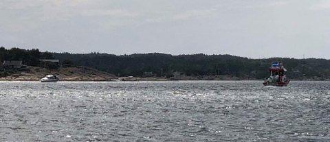 Båten gikk på grunn mellom Revholmen og marinaen på Stokken.