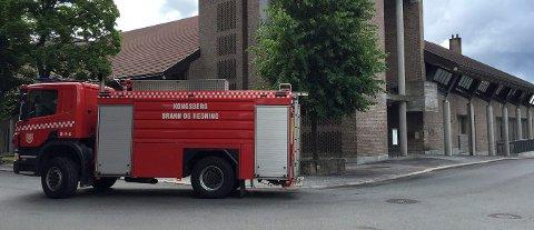 PÅTENT: Rådhuset i Kongsberg ble forsøkt påtent i slutten av juli 2016.