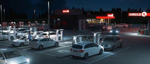 Fremtidens ladeopplevelse: Circle K skriver i en pressemelding at de arbeider med en raskere, enklere og mer sømløs kundeopplevelse for elbil-eiere.