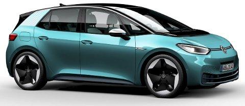 REVOLUSJON: Første modell ut på Volkswagens nye hel-elektriske plattform er Golf-størrelse ID.3.ALLE FOTO: PRODUSENTENE