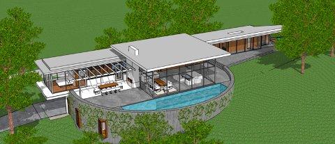 Her er illustrasjoner av den nye boligen i Vestveien 544 fra ulike vinkler.