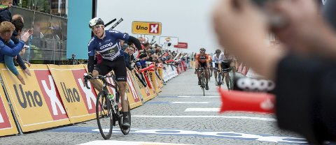 TIL RISØR? Edvald Boasson Hagen er en av flere stjerner som kan sykle Tour des Fjords. Her fra seieren til Stavanger i fjor.