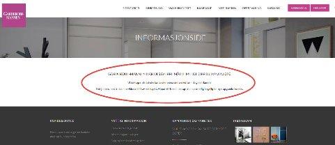 OPPBUD: Denne meldingen ligger nå på Garderobe-mannens nettsider.