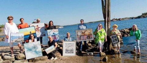 Det blir mye kunst på Skjærhalden i sommer, også.
