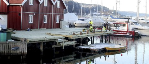 Snart ferdig: Ny brygge til Skjærgårdstjenestens båt «Breiangen».foto: jarl rehn-Erichsen