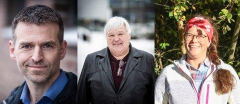 ORDKRIG: Thorbjørn Merkesdal (t.v.) og Tove Kongsvik (t.h.) reagerer sterkt på ordbruken til eks-ordfører Harald Espelund (Frp).