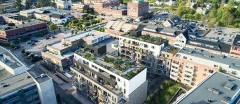 FIKK DISPENSASJON: Blokkene i Giljehagen har fått dispensasjon fra skolekapasitetkravet i Ski sentrum, og kan nå sette igang byggingen.