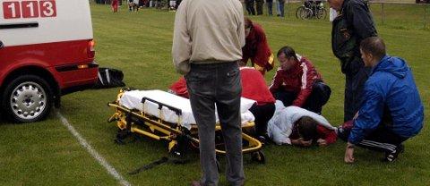 BEIBRUDD: Rune Fossum brakk begge leggbeina i kamp mot Røros i 2003. Foto: Arne Inge Næss.