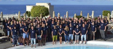 FErie og feiring: MBA Entreprenør  med 107 ansatte  og partnere har vært en uke i Puerto Rico. Foto: Privat