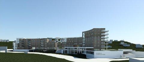 Selskapet Arena Drøbak vil bygge ut 7-Eleven-tomta og løfte Ullerudsletta med 100 leiligheter og nye baner for idretten.