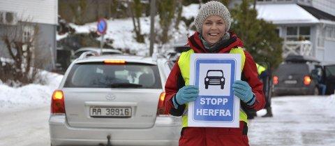 Engasjert: FAU-leder Camilla Skjerven Langlo skriver om trygg skolevei ved Kragerø skole.ArkivFoto: Per Eckholdt