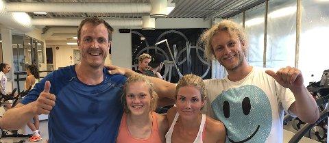 BLID KIF-KVARTETT: fra venstre: Stian Sivertzen, som nå blir landslagstrener, Tina Steffensen, Silje Norendal og Christian Ruud Myhre.FOTO: PRIVAT