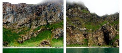 Puinnsand på Værøy.