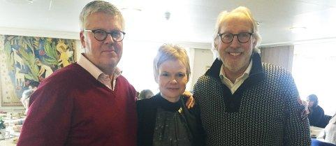 Ledertrio: Magdalena Lindtvedt er ny leder av Vestfold Venstre. Her flankert av nestlederne Carl Otto Kiellan og Carl Erik Grimstad. foto: Erik Werner Andersen
