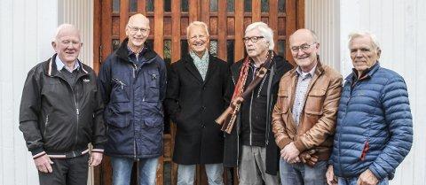 TJØME KORFORENING: Fra venstre: Reidar Fjelly, Jan-Erik Pettersen, Reidar Furnes, Magne Synnevåg, Stefan Mohr og Øyvind Øyen.
