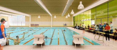 VIL INVESTERE: Slik kan den nye svømmehallen bli. (Illustrasjon Rælingen kommune/KNZB)