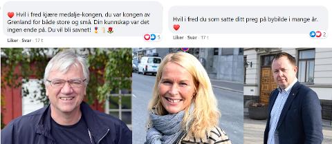Ordførerne i Bamble, Skien og Porsgrunn deler sine minneord.