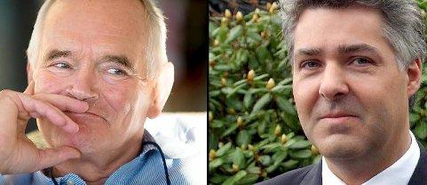 Trond Mohn og Fritz Rieber, leder i Atlantis Vest, tar stor gevinst etter at de for ett år siden kjøpte det norske programvareselskapet Software Innovation.