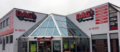 Dette er Dags Markeds butikk i Kanalveien i Tønsberg. Alle fem butikkene i Vestfold består fortsatt.