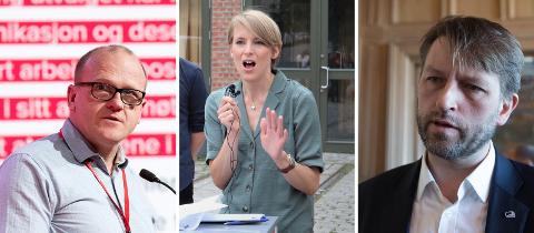 KOLLEKTIVT RASERI: Både Frode Jakobsen (Ap), Kari Elisabeth Kaski (SV) og Eirik Lae Solberg (H) reagerer kraftig på Sandra Borchs (Sp) utspill om at Senterpartiet vil ta fra andre storbyer og gi milliarder til Tromsø.