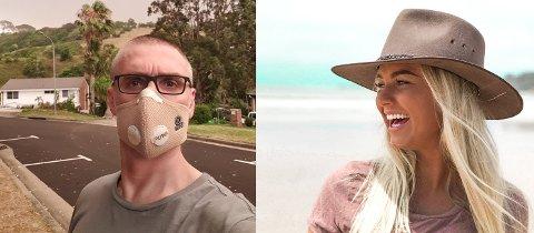 BOR I AUSTRALIA: Mens Jørgen Smith (46) fra Fredrikstad har bodd i Melbourne i over 20 år, er Stine Bingen (25) fra Fredrikstad og Hvaler bosatt i Sydney. Begge er preget av de voldsomme brannene som herjer i landet.