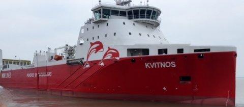 """HAVARIST: Lasteskipet """"Kvitnos"""" var et av de første i Norge som gikk på LNG-gass og under et år gammelt da det havarerte med girproblemer syd for Færder."""