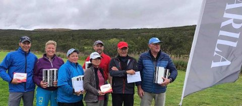 FINNMARKSMESTERE: Audun Andersen, Heidi Johansen, Stig E. Andersen, Pål Roar Johansen, Arnold Jørgensen og Lillian Nora ble mestere under Finnmarkstouren.