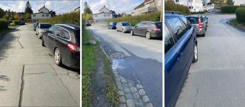Dette er eksempler på parkering som beboerne i Skyåsvegen og Rønningsbakken reagerer på.