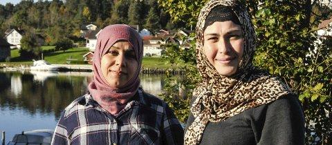 Ambisjoner: Aliaa Albaker og Dinare Tulumu har mange drømmer. Møy intensiv vil gi dem selvtilliten de trenger for å sette drømmene ut i livet.foto: anne lill w. aas