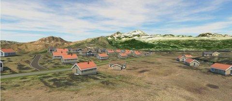 HYTTER: Stillbilde fra 3D-filmen, som du finner litt lenger ned i teksten. Foto: Plankontoret Halvor Homme AS