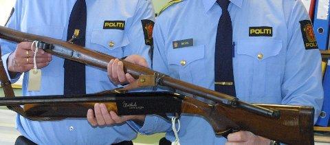 Politiet fant våpen på adressen i Frogn.