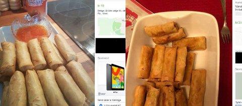 ULOVLIG?: Mattilsynet sier det er en rekke regler som må oppfylles før du kan selge mat i sosiale medier. Illustrasjonsfoto: Skjermdump fra Facebook Marketplace.