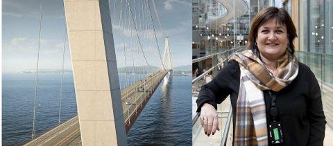 Trine Lindborg i Bjørnafjorden kommune er glad for støtten fra Trym Aafløy som vil ha naturpark i sør, ingen gigantisk bro. Nå håper hun egne partifeller i Ap slår følge.