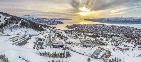 Dimensjoner: De pågående utbyggingene i Fagernesfjellet har store dimensjoner. Nå går diskusjonen om hvorvidt Narvik kommune skal bidra i finansieringen av en del infrastruktur. Foto: Kalle Punsvik/Narvikfjellet