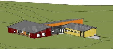Anbud: Ny barnehage på tomten til Fagerlund barneskole.Illustrasjon SG-Arkitektur as