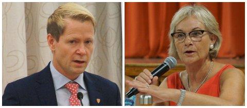 ORIENTERTE: Harald Tyrdal og Randi Eek Thorsen informerte om de nye koronatiltakene for Gran og Lunner onsdag ettermiddag.