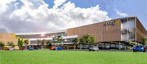 DOBLER STØRRELSEN: Slik ser LINK arkitektur for seg utvidelsen av Amfi Borg. Fotavtrykket på den nye delen vil bli omtrent slike stort som dagens kjøpesenter.
