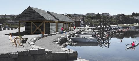 SKISSE: Slik ser skissa til servicebygg i Sirevåg hamn ut.