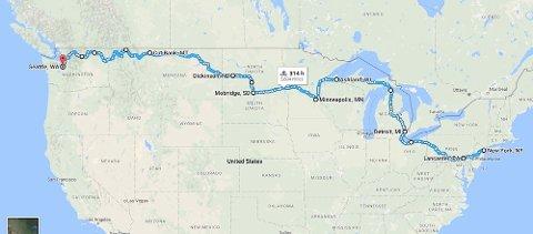 """OPPVARMING: Isabelle skal """"varme opp"""" med en 5800 kilometer lang reise gjennom USA."""