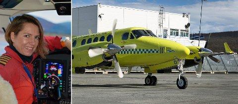 PILOT: Synnøve Lilleli har vært pilot i luftambulansetjenesten i tolv år, og forteller at det er krevende å fly nå.