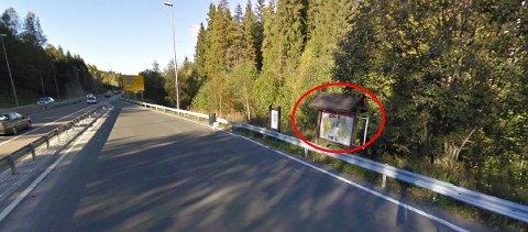 SKAL VEKK: Turistinformasjonstavla ved E18 mellom Nygårdskrysset og Vinterbrokrysset skal vekk - om den ikke er fjernet allerede.