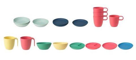 Ikea tilbakekaller Heroisk og Talrika tallerkener, boller og krus på grunn av risiko for at de sprekker.