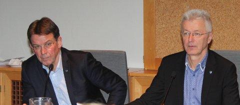 VIL HALDA HJULA I GANG: Fylkesordføraren Jon Askeland, (t.h.) har bestilt ei sak frå rådmann Rune Haugsdal om kva tiltak Vestland kan bidra med for å halda hjula i gang for flest mogleg i ein koronasituasjon. Saka skal til behandling i fylkesutvalet 26. mars.