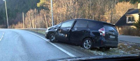 «Det blir onsdag meldt om svært glatte veier på Frei», skrev tk.no etter å ha fått dette bildet fra en tipser.