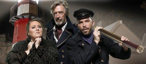 Aina B. Gundersen, Bjørn Skagestad og Morten Gjerløw Larsen skulle hatt hovedrollene i årets forestilling i Brottet, Lysglimt i Mørket.